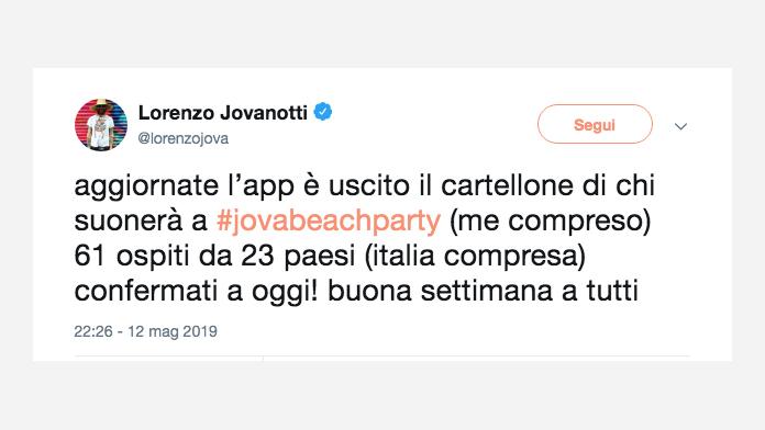 jovanotti tweet